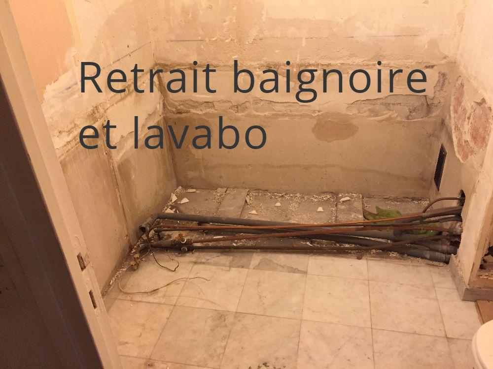 RettraitBaignoire et Lavabo